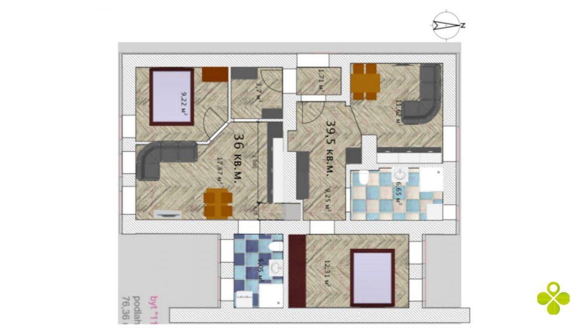 podorys central 2 izb